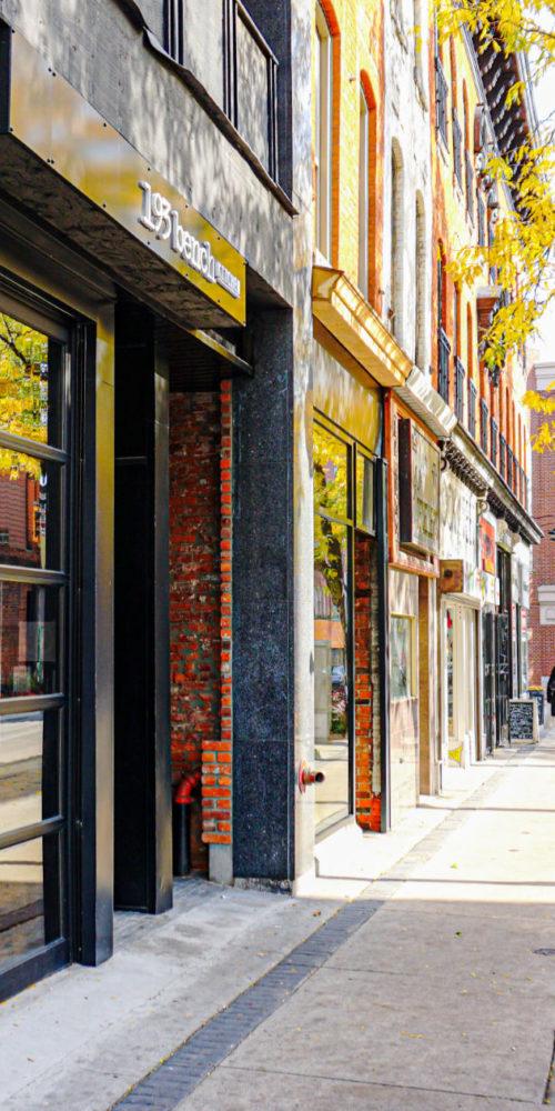 Sidewalk view on King street featuring 193 Bench Kitchen.
