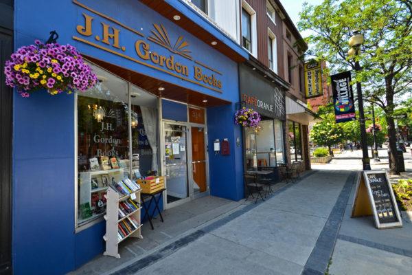 Exterior view of J.H. Gordon Books and Cafe Oranje