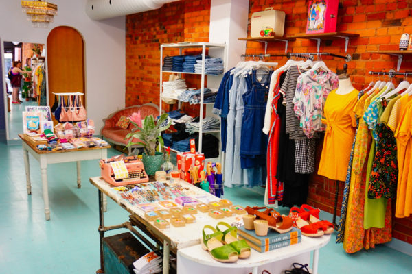 Interior view of Girl on the Wing store.