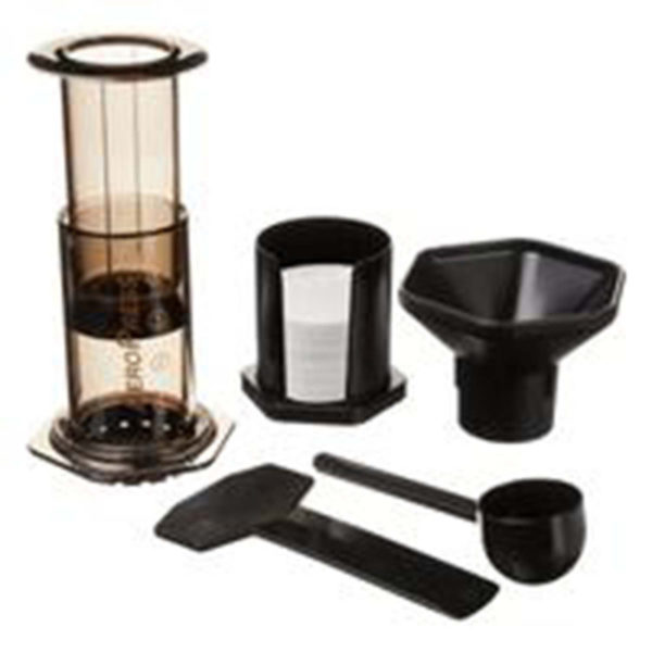 Aeropress Coffee Maker Kit. The most versatile coffee maker you'll ever own! Makes a range of coffees from drip to euro to espresso style.