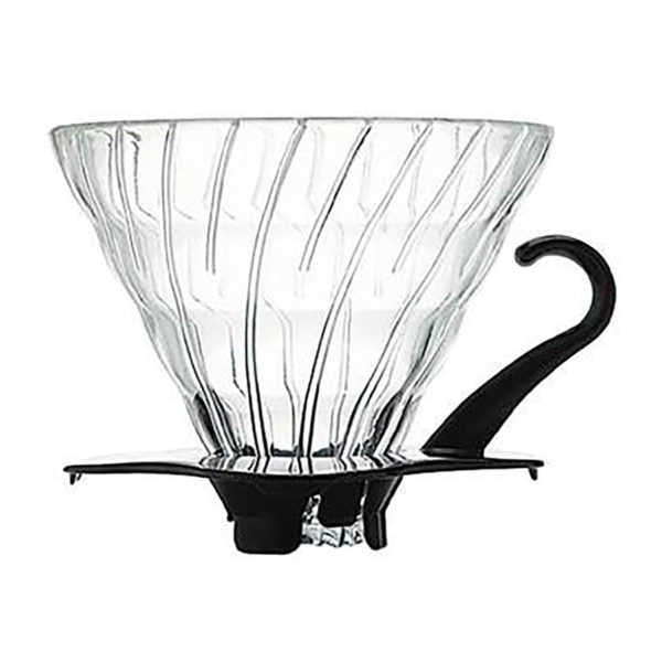 Hario Pour Over Coffee Dripper. Great for the office or home, this medium-sized dripper sits directly on your cup and makes a perfect cup of coffee.