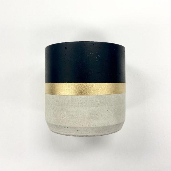 Large Candle Holder Black-Gold-Natural