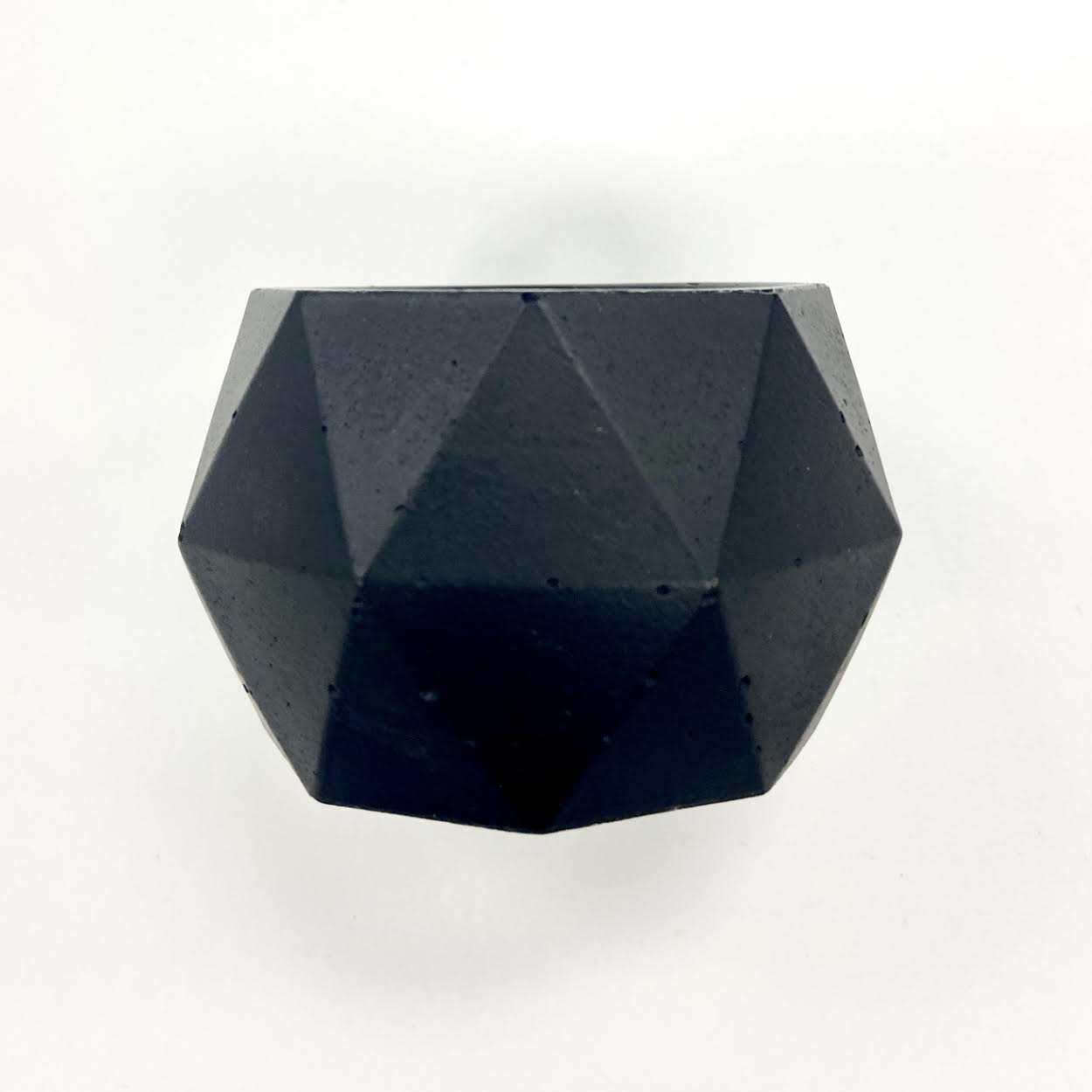 Image of a black Geometric Candle Holder