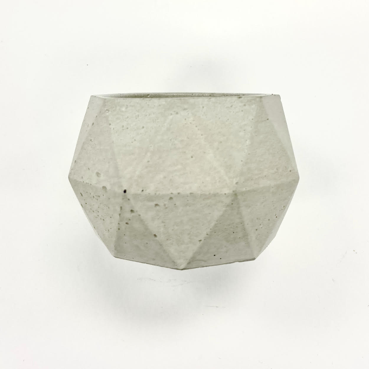 Image of a Natural Cement Geometric Candle Holder