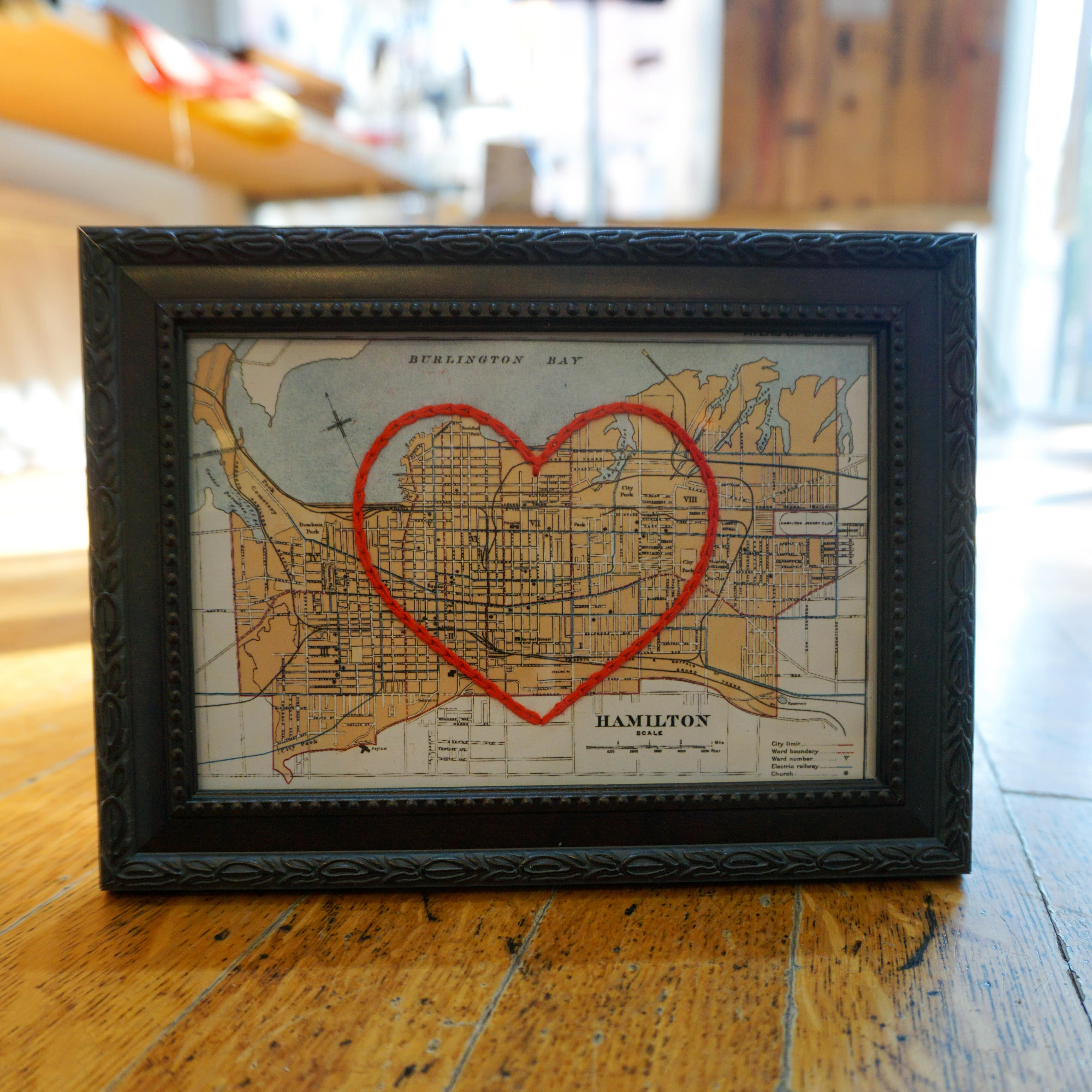Map of Hamilton with a Heart