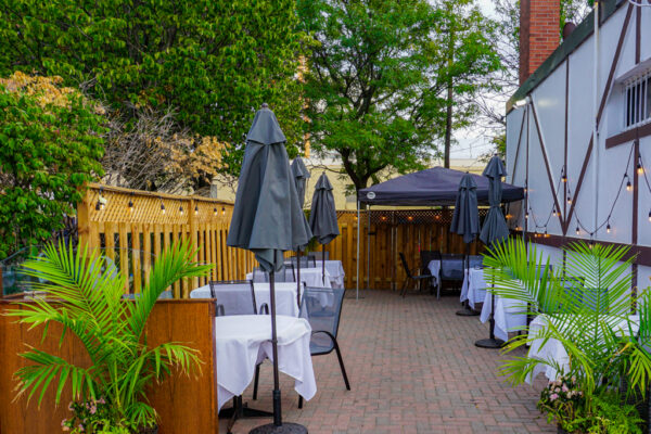 Image of patio at Shakespeare's Fine Dining