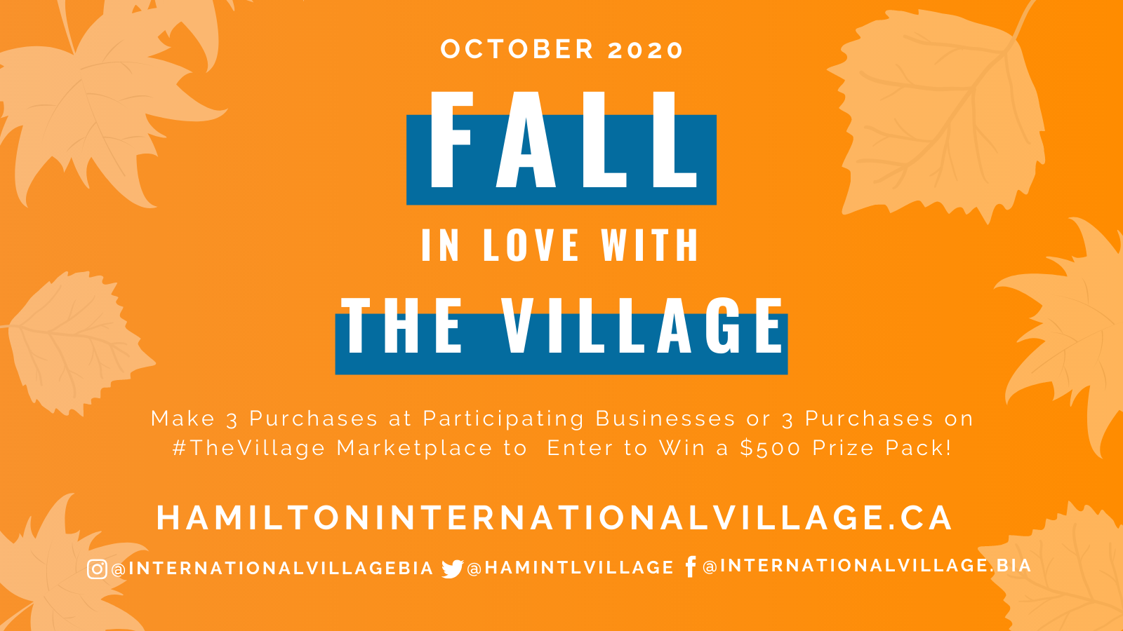 Fall in Love with the Village contest artwork