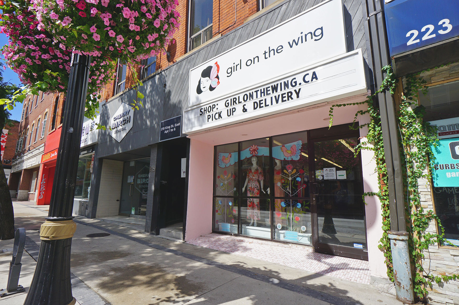 Image of Girl on the Wing's King Street Storefront - Open Businesses in The Village