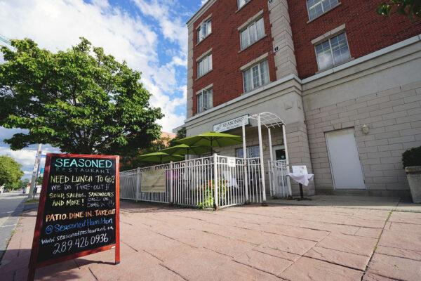 Image of exterior of Seasoned Restaurant & patio