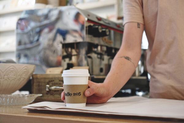 Image of latte at Studio 205