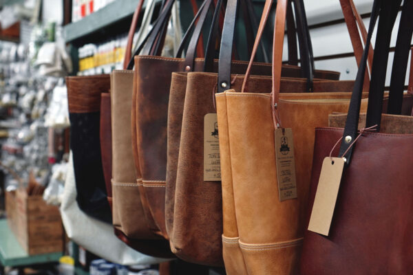 Image of tote bags at Tundra Leather