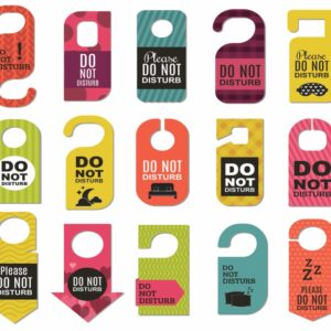 Image of different options for door hanger advertising
