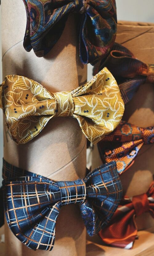 Image of colorful bow-ties avaible on The Village Marketplace