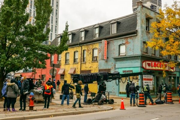 Image of filming on King Street East