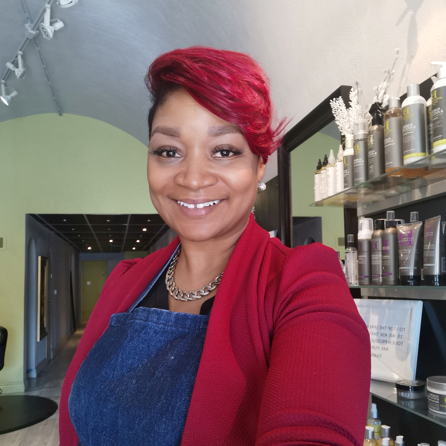 Image of Camille owner of Amorphous Hair Salon - International Women's Day