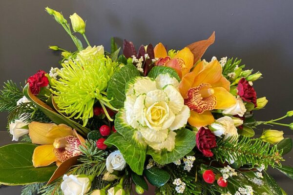 Image of colorful floral display