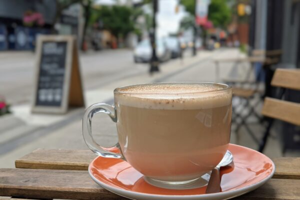 Image of Latte on Patio