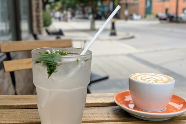 Image of Drinks on Patio Table