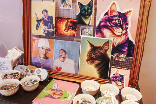 Image of Artwork, Buttons, and Stickers for sale at Cat & Bell Co.